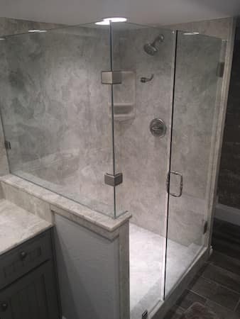 Cultured Onyx Walk In Shower