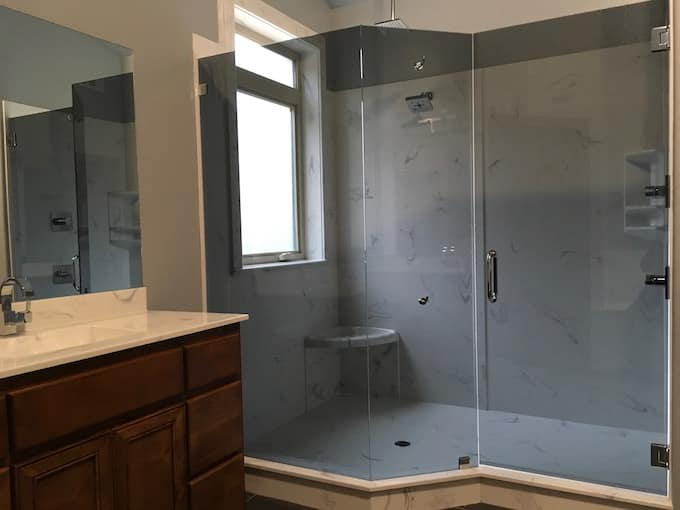 Walk-In Shower - Cultured Marble